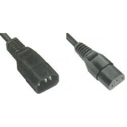 Prolongateur Fiche mâle C14G/ Femelle droite CEE22