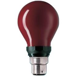 Lampe B22d 230V 15W ROUGE